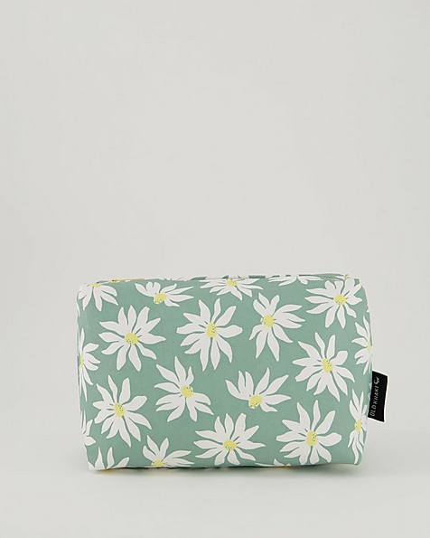 Women's Pearl Cosmetic Bag -  sage