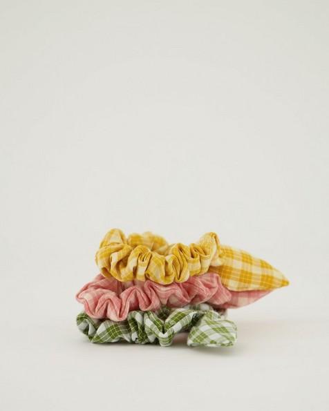Women's Erica 3-Pack Scrunchie Hair Ties -  yellow