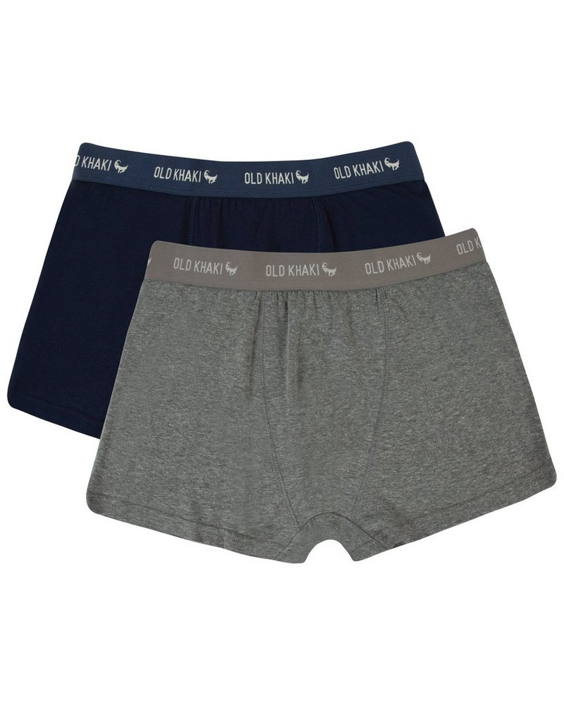 Men's 2-Pack Underwear -  grey-navy