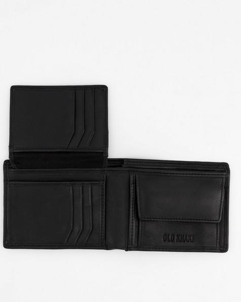 Men's Dale Foldover Leather Wallet  -  black