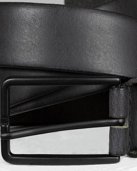 Elias Chino Leather Belt -  black