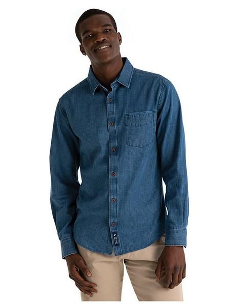 Old Khaki Men's Ash Slim Fit Shirt  -  indigo