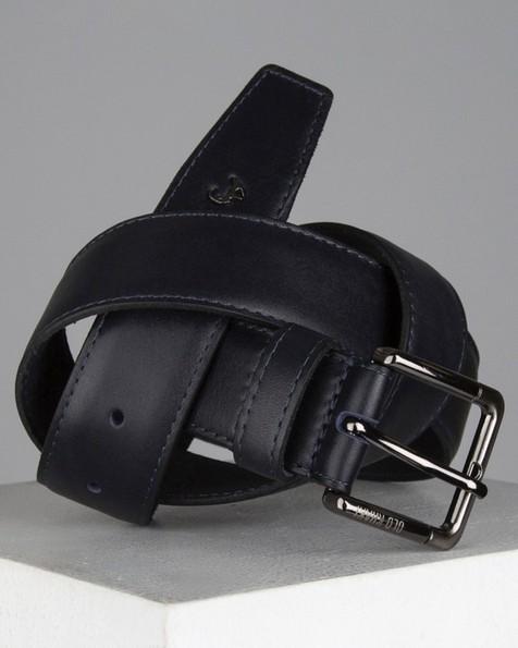 Cason Formal Leather Belt -  navy