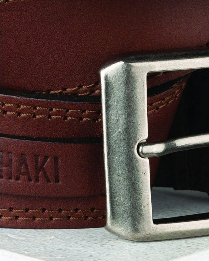 Lionel Tab Detail Belt -  brown