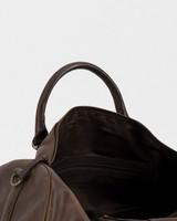 Men's Boris Leather Weekender Bag -  brown