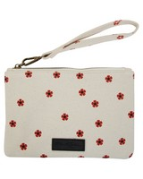 Women's Rylee Embroidered Fabric Pouch -  milk-rust