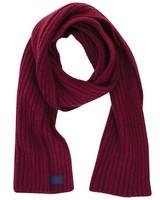 Allan Rib Knit Scarf -  burgundy