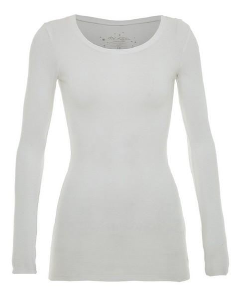 Estel Long Sleeve T-shirt  -  white