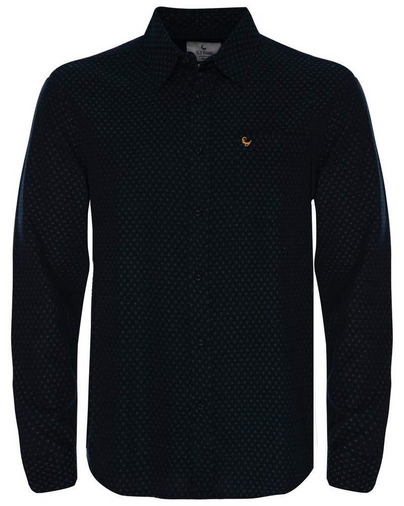 Rowan Dobby Regular Fit Shirt -  navy