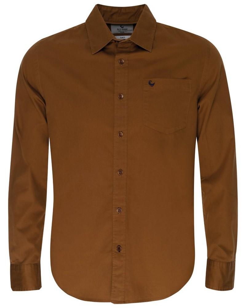 Milano Slim Fit Shirt -  ochre