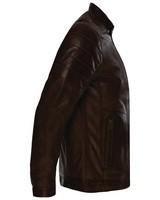 Old Khaki Men's Cam Leather Jacket -  brown