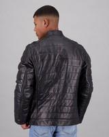 Old Khaki Men's Tom Leather Jacket  -  black