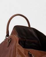 Kenzo Men's Leather Weekender Bag -  brown