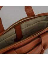 Steve Leather Laptop Bag -  tan