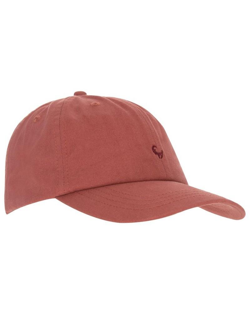 Malcolm Branded Cap -  rust-burgundy