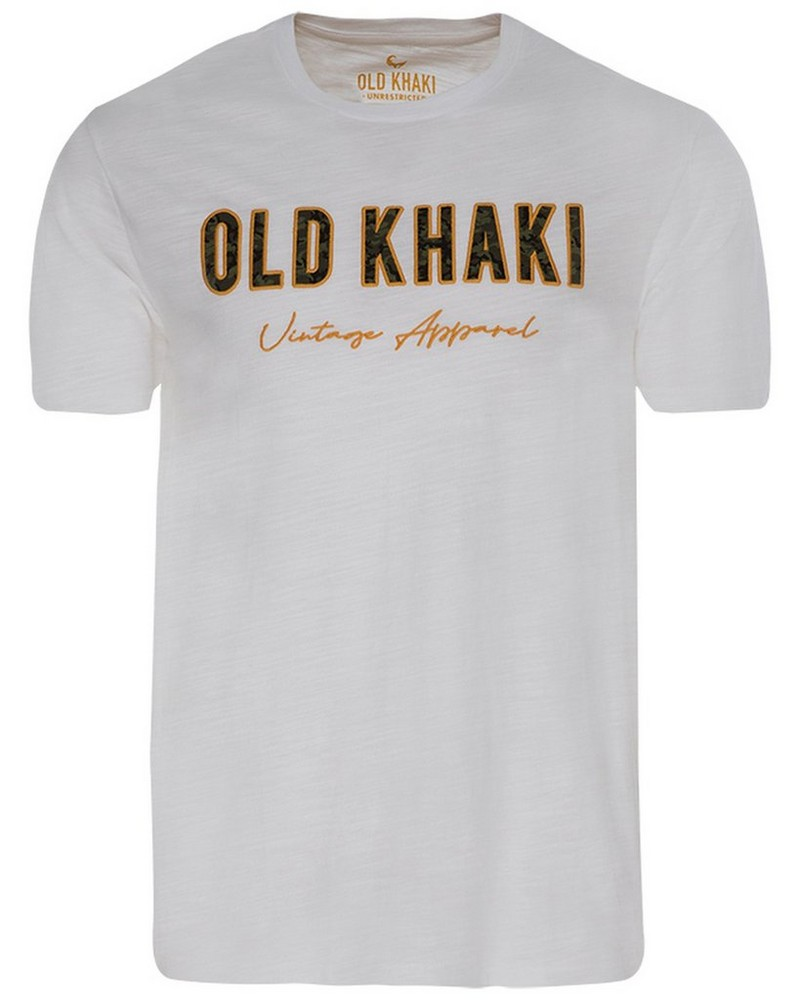 Old Khaki Men's Frank Relaxed Fit T-Shirt -  white