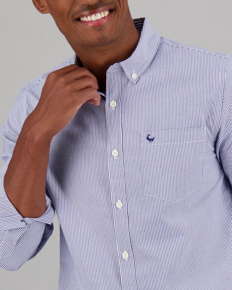 Men's Christof Slim Fit Shirt -  navy