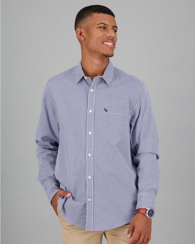 Men's Basil Regular Fit Shirt -  navy