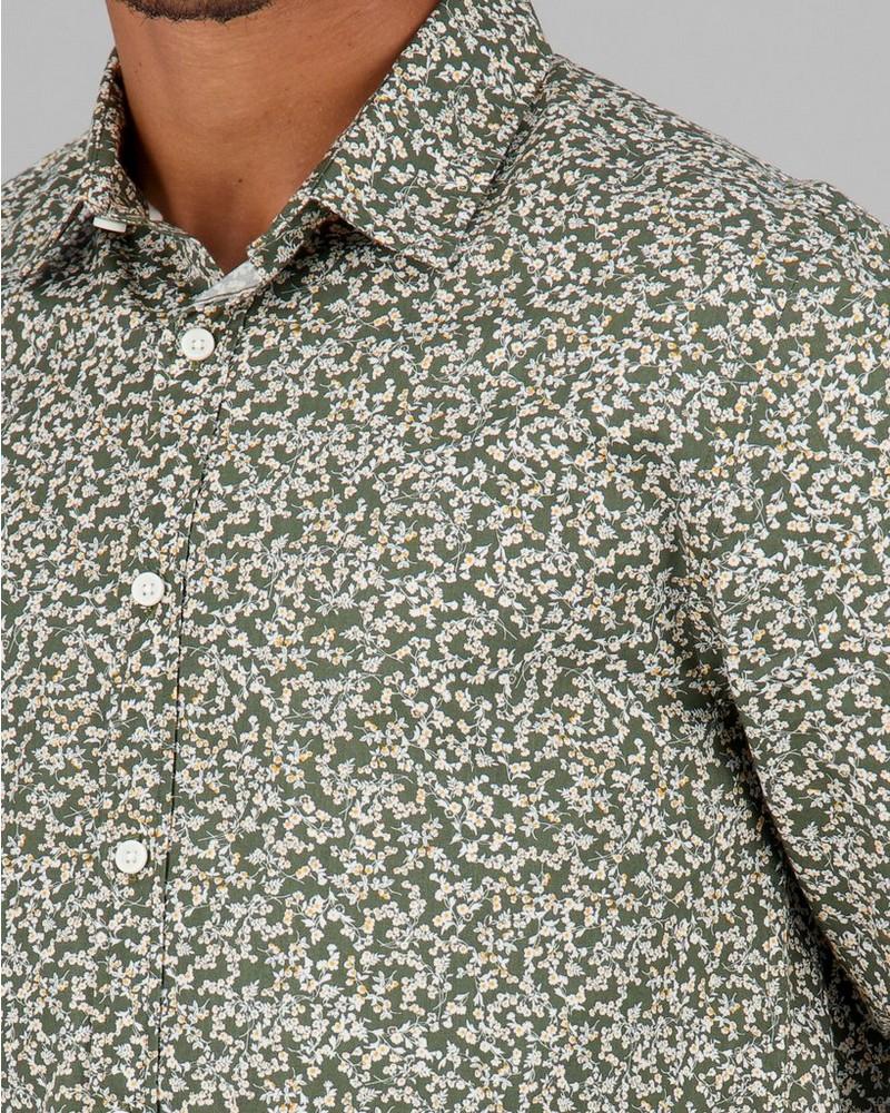 Men's Simon Slim Fit Shirt -  olive