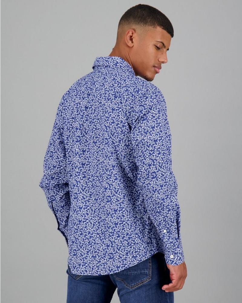 Men's Simon Slim Fit Shirt -  navy