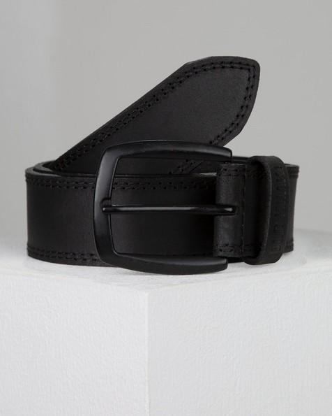 Ian Leather Belt -  black