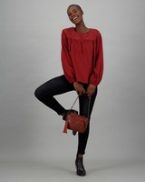 Women's Lara Long Sleeve T-Shirt -  rust