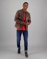 Men's Gino Leather Jacket -  tan
