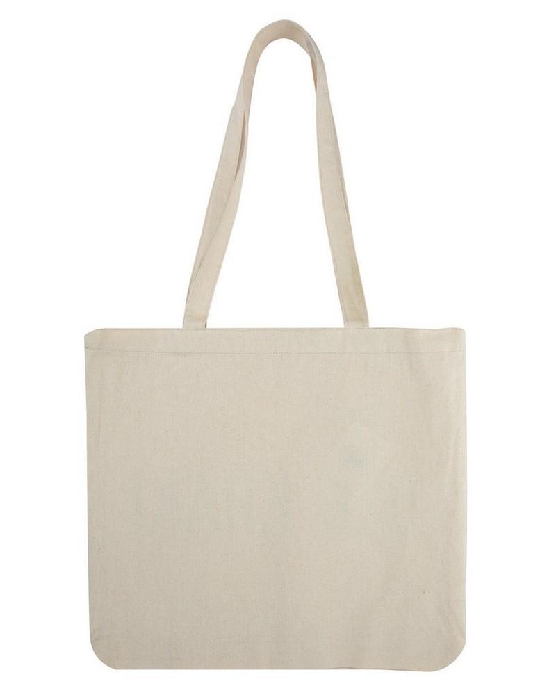 Old Khaki Canvas Shopper -  milk
