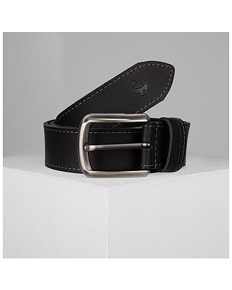 Adan Stitch Detail Belt -  black
