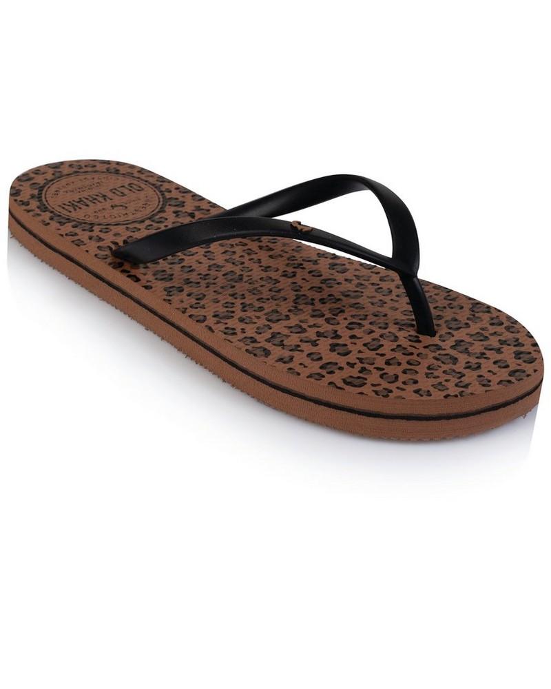 Old Khaki Women's Tide Flip Flops -  camel-black