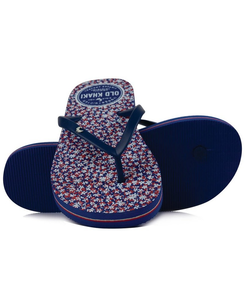 Old Khaki Women's Tide Flip Flops -  navy-red