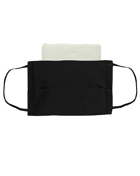 FABRIC 2-LAYER FACE MASK 3-PACK WITH FILTER -  black
