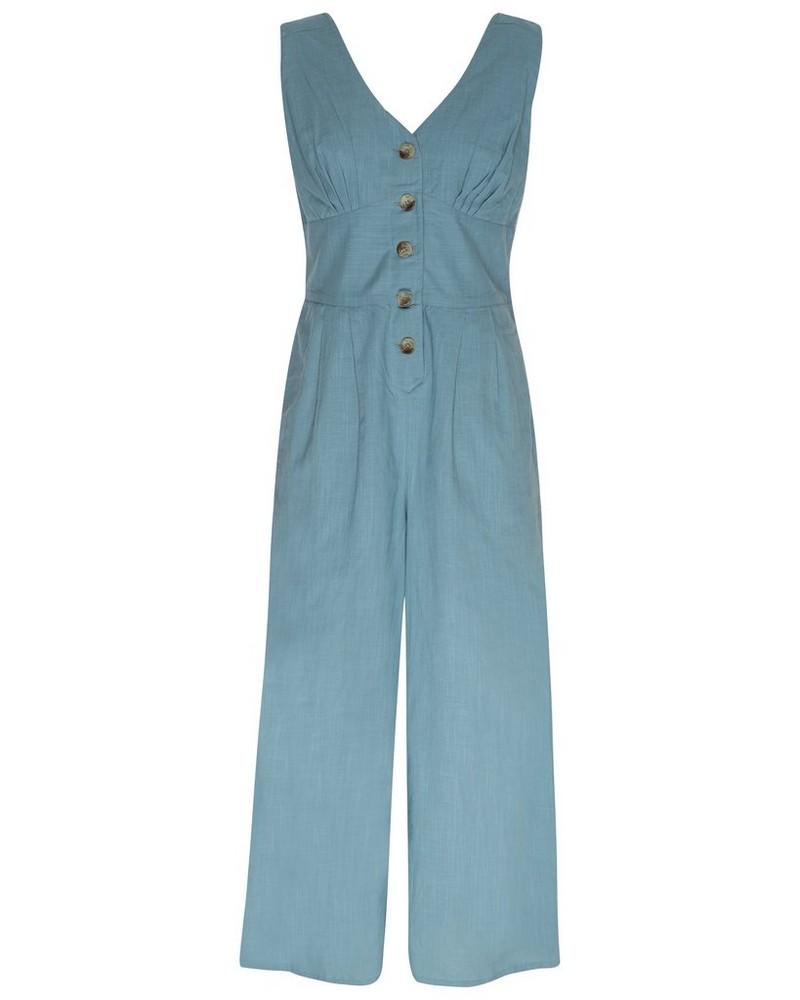 Camila Jumpsuit -  blue-assorted