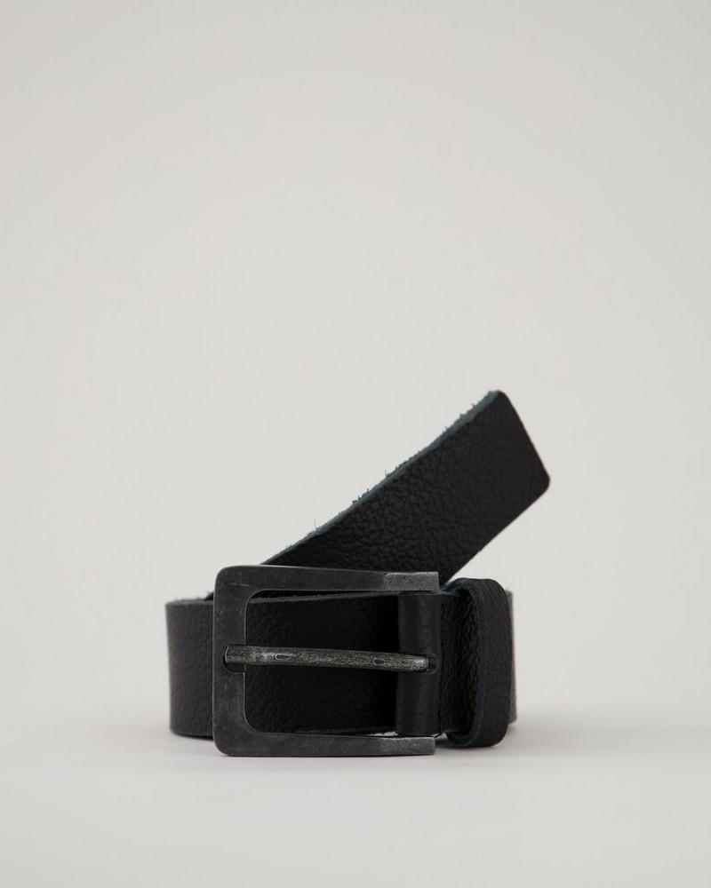Bennett Leather Belt -  black-black