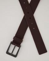 Bennett Leather Belt -  brown-brown