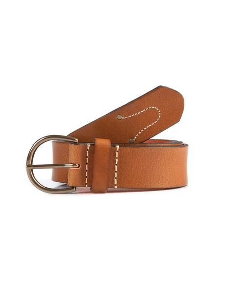 Bria Leather Belt -  tan