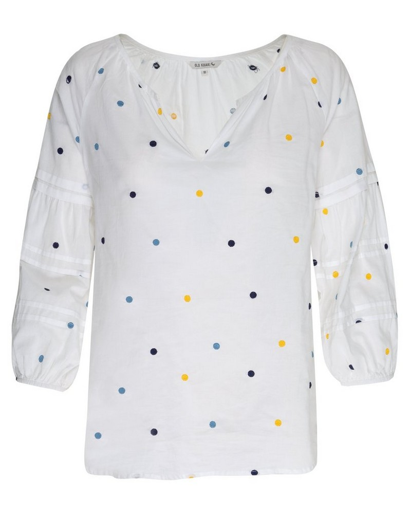 Jackie Woven Top Wmn -  white