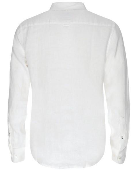 Dustin Slim Fit Linen Shirt -  white