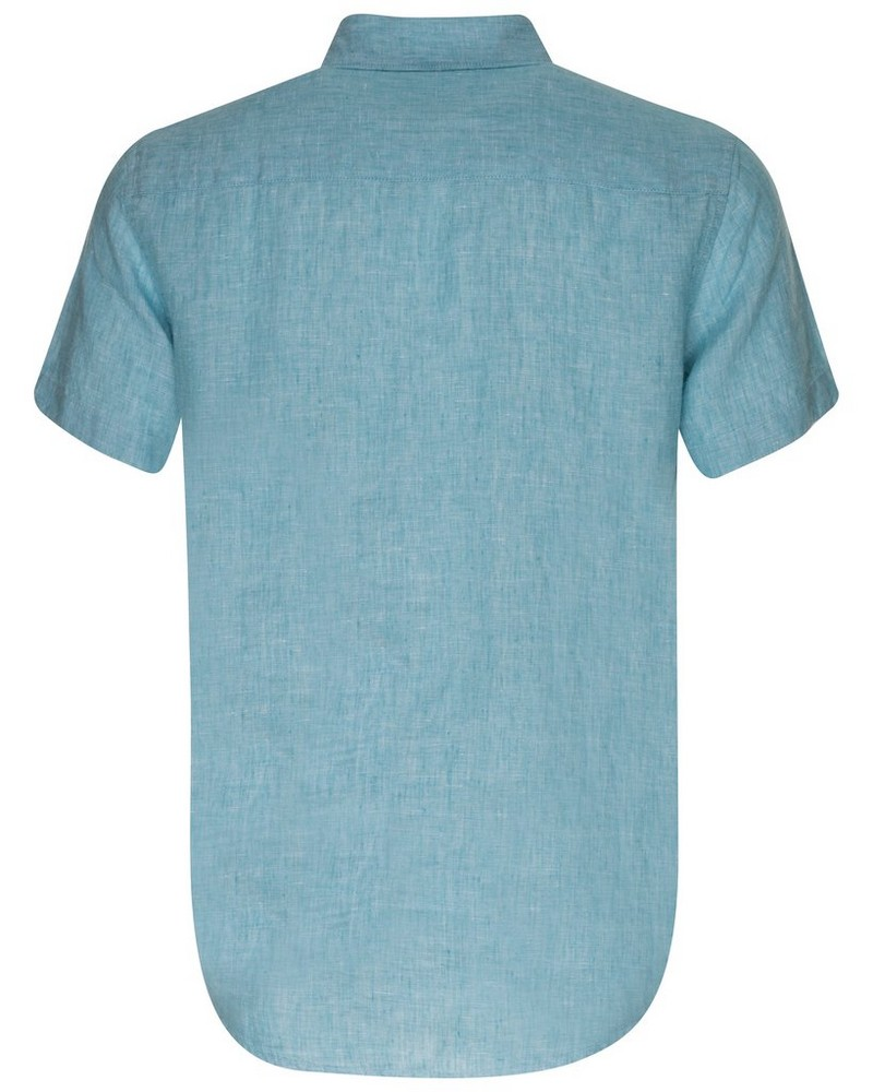 Laz Linen Shirt -  aqua
