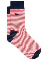 Men's Boone Nautical Groat Sock -  navy-red
