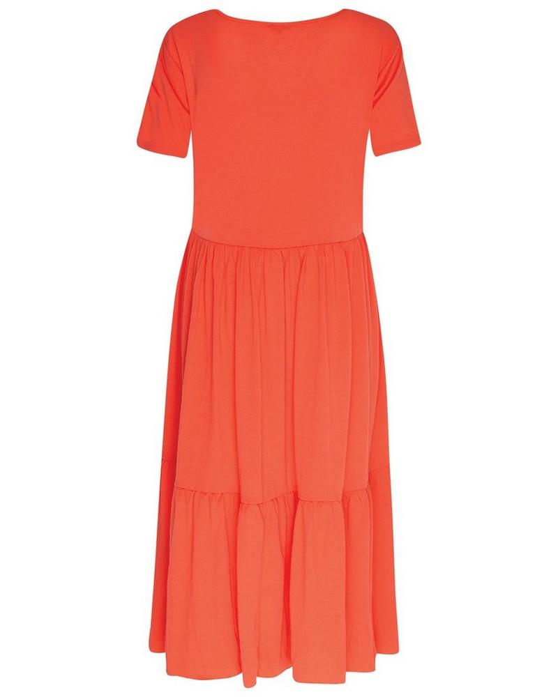 Julia Tiered Dress -  coral