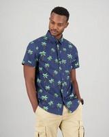 Men's Jeffery Slim Fit Shirt -  navy