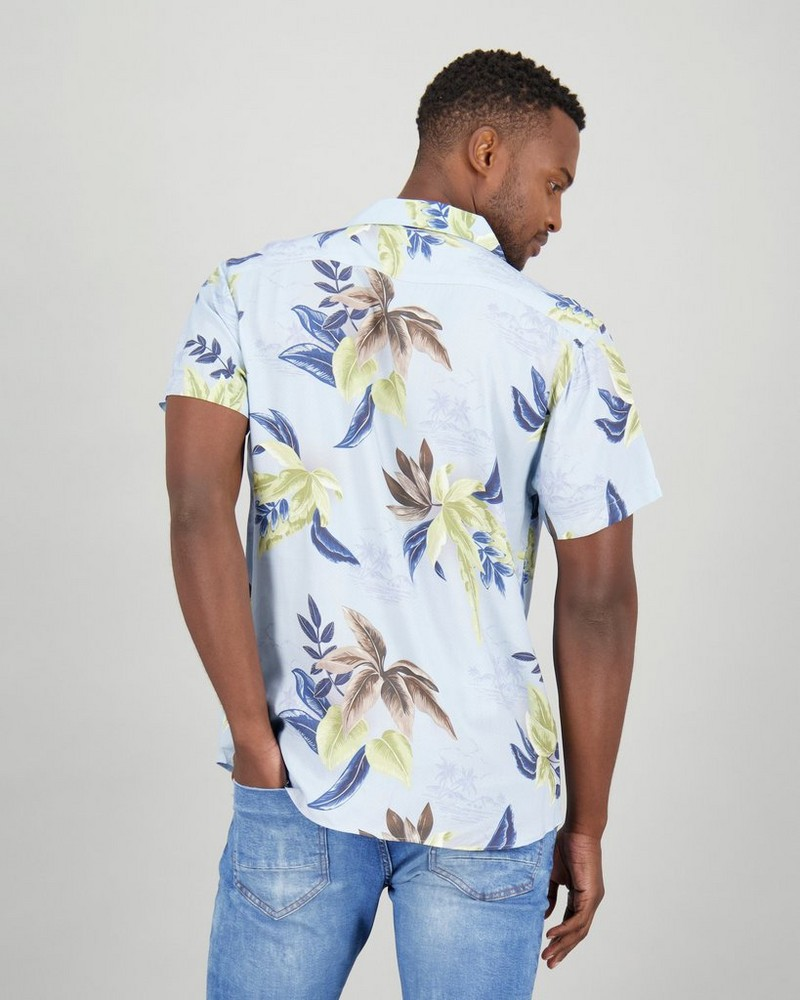Men's Luchien Slim Fit Shirt -  blue