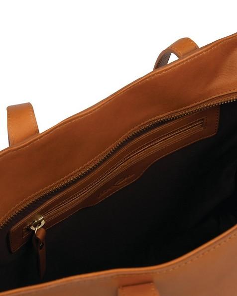 Women's Louise Leather Shopper Bag -  tan