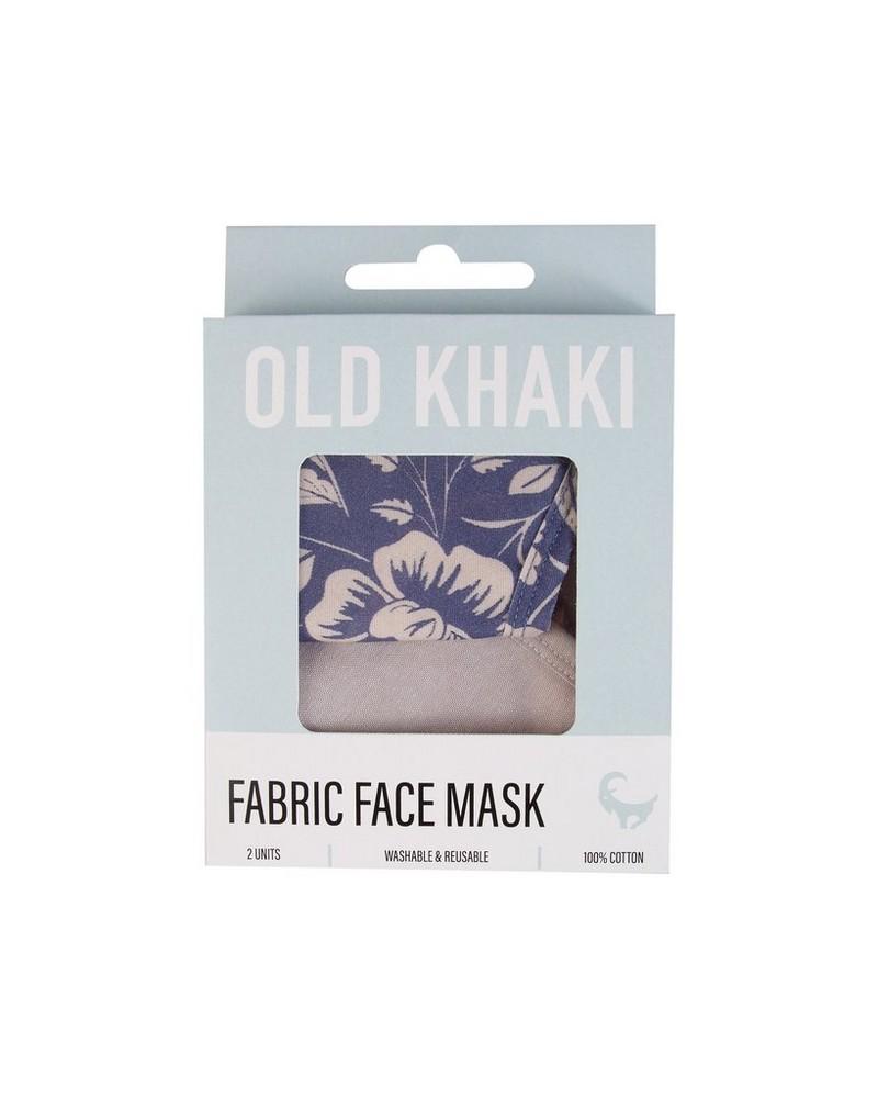 2-Pack Tropical Fabric Face Masks -  blue-lightblue