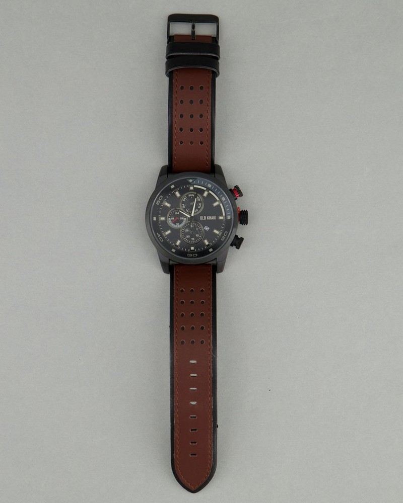 Men's Rocky Watch -  brown-grey