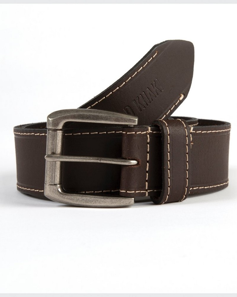 Men's Chance Leather Belt -  brown