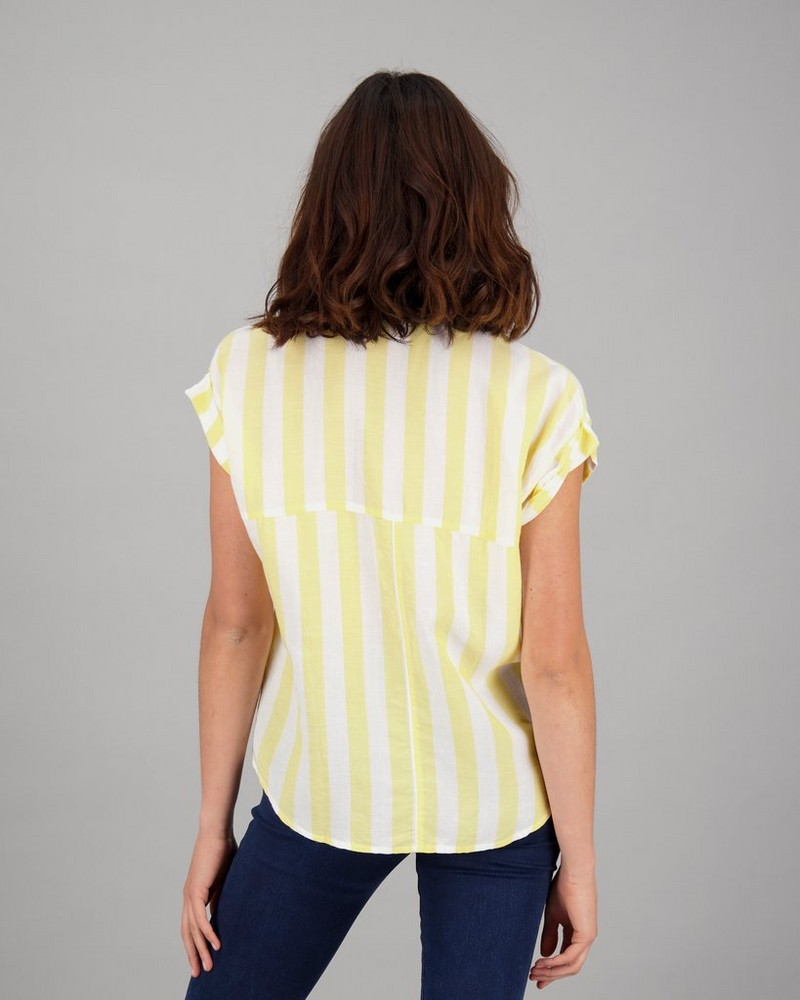 Women's Daisey Shirt -  white-yellow