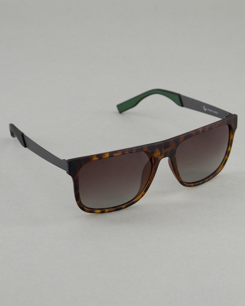Men's Polarised Tortoise Shell Sunglasses -  grey-brown