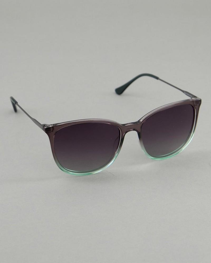 Women's Polarised Ombre Sunglasses -  grey-green